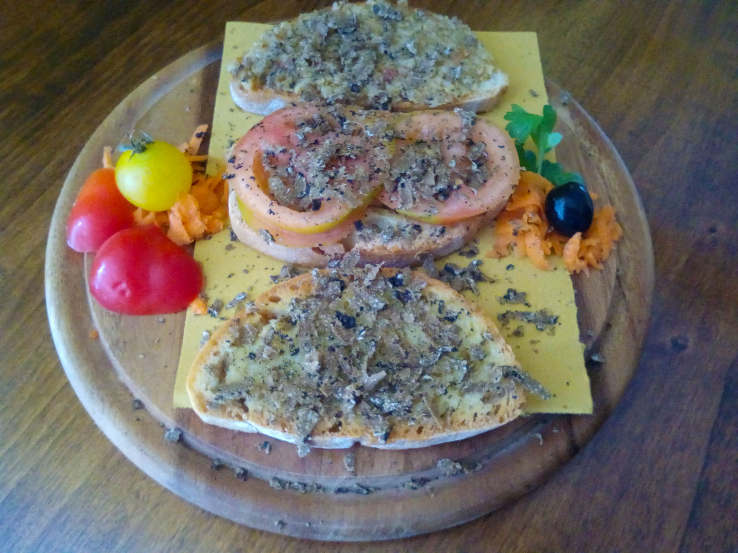 Bruschette e tartufo